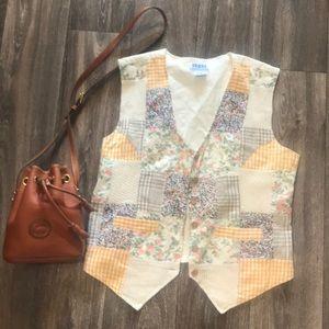 Vintage Retro 1970's 70's Patchwork Vest